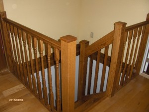 Flemings winder stairs stained by Bobbie 001